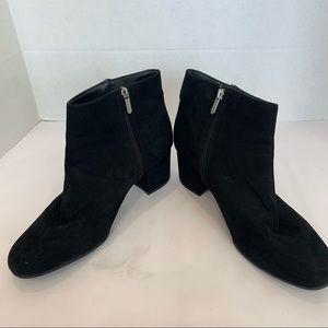 CIRCUS Sam Edelman 12 black suede boots chunk heel